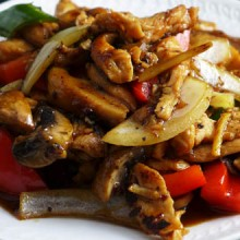 Thai ginger chicken (Gai pad khing)