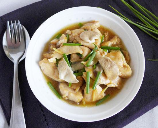 Thai ginger chicken gai pad khing rice sticks gai chicken pad stir fry and khing ginger forumfinder Image collections