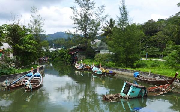 Boats by kamala bay