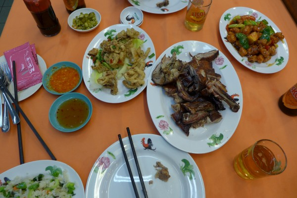 Our feast at restaurant Dragon View